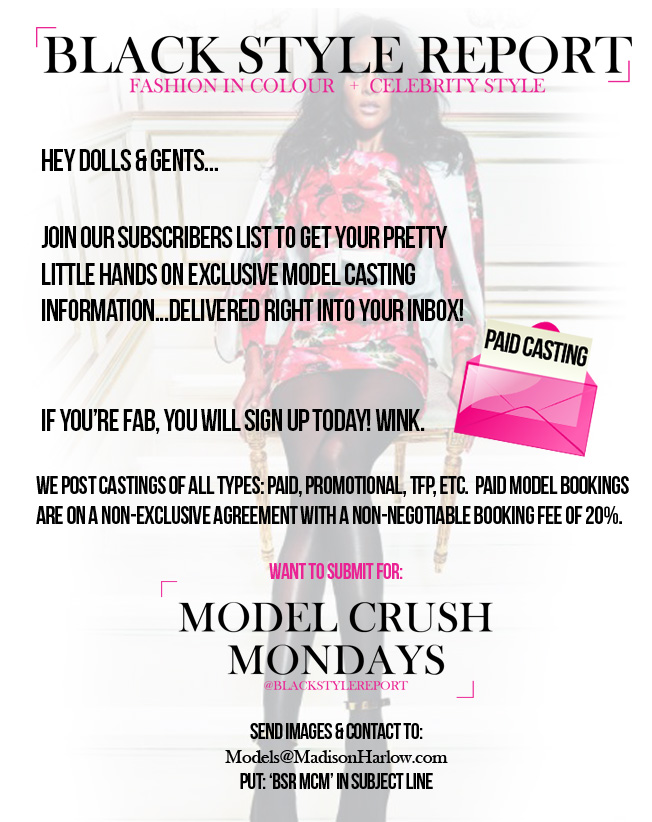 Fashion Models Castings Subscribe Now