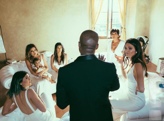 Kanye West Kris Jenner Kyndell and Kylie Khloe Kourtney Kardashian