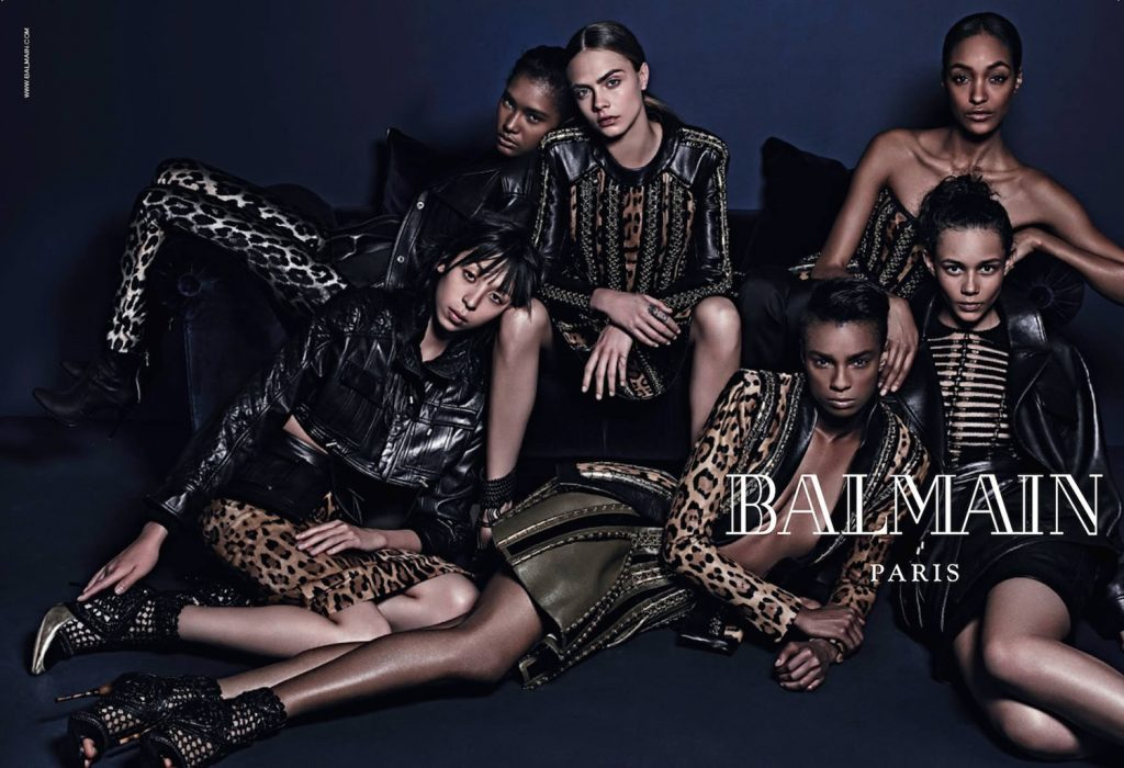 Balmain Collection Models Jourdan Dunn & Ysaunny Brito