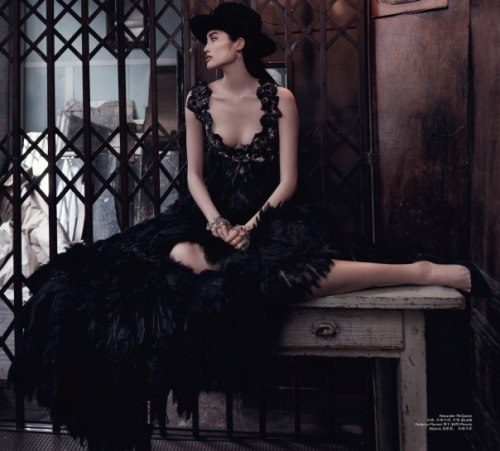 Sui He Chinese Model poses for Vogue Australia