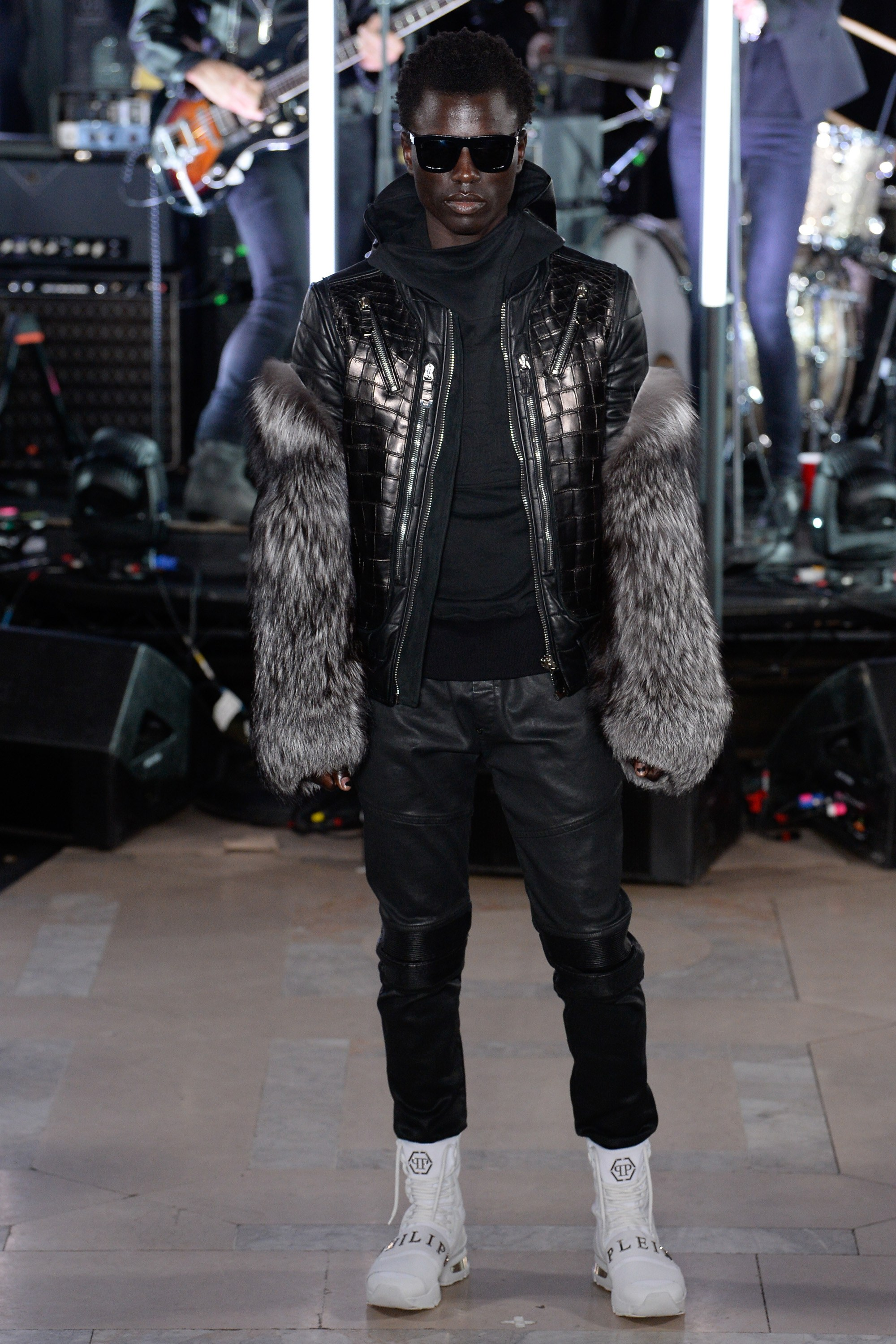 Philipp Plein Mens Fur Coat