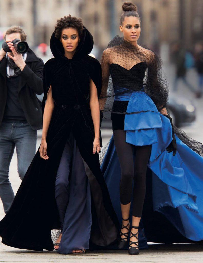 Vogue Arabia Fashion Editorial Cindy Bruna & Samile Bermannelli